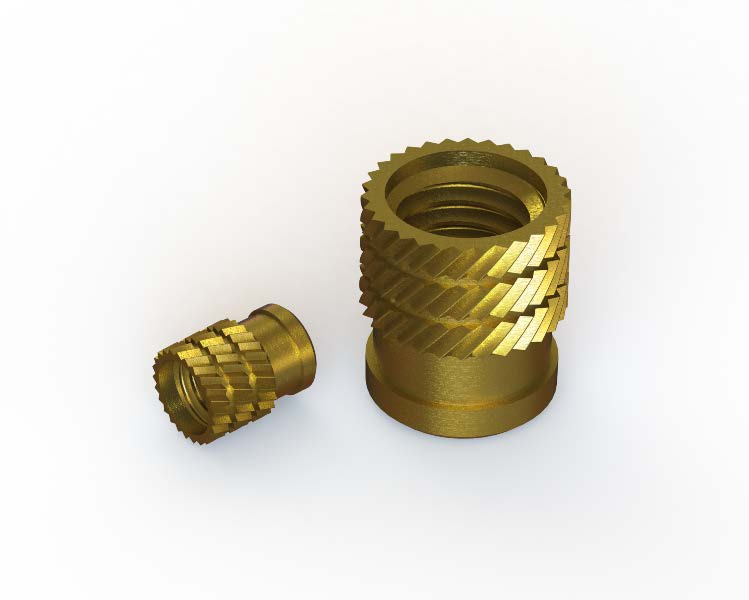Cold insertion threaded bushes (self-clinching)