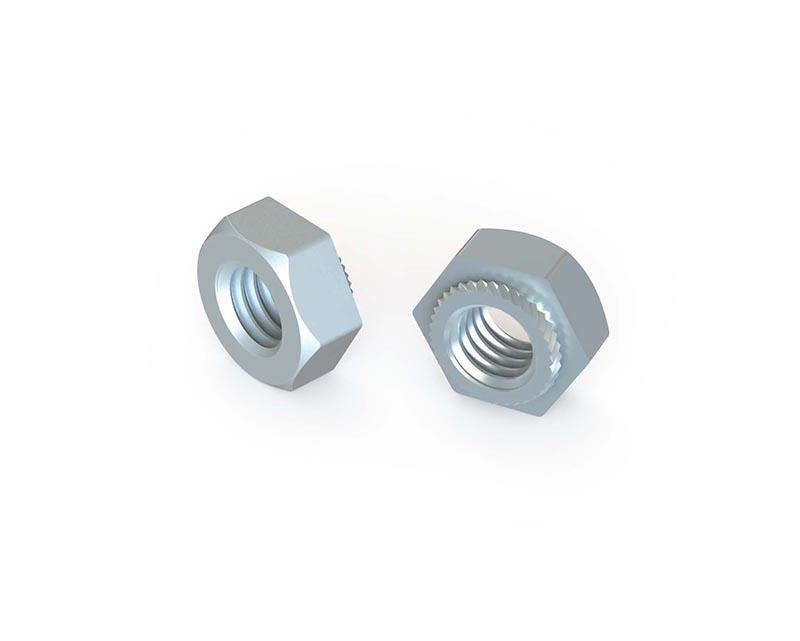 Threaded hexagonal nuts