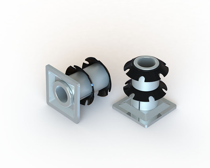 Self-clinching threaded inserts