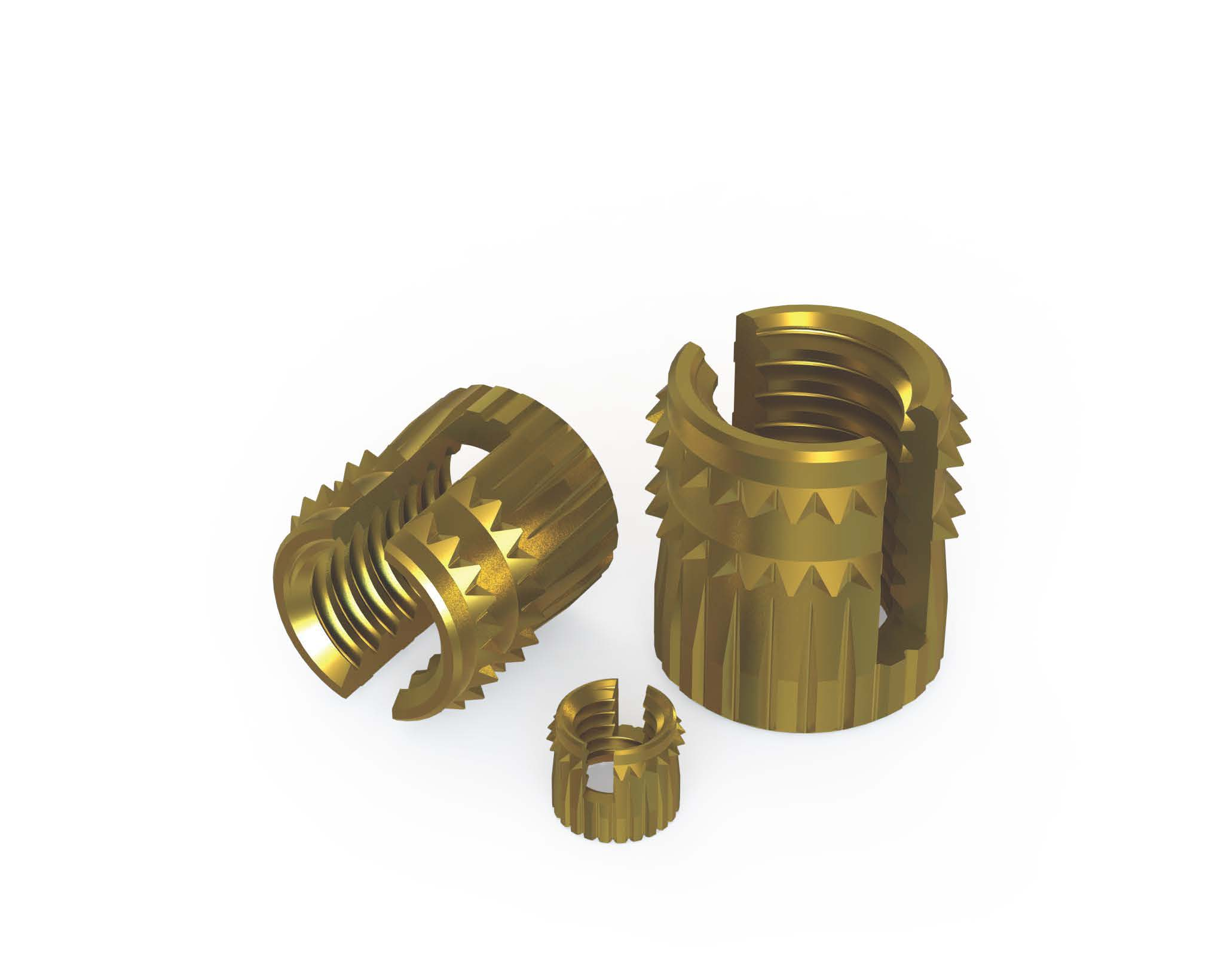 Cold insertion threaded bushes (self-clinching and expansion)