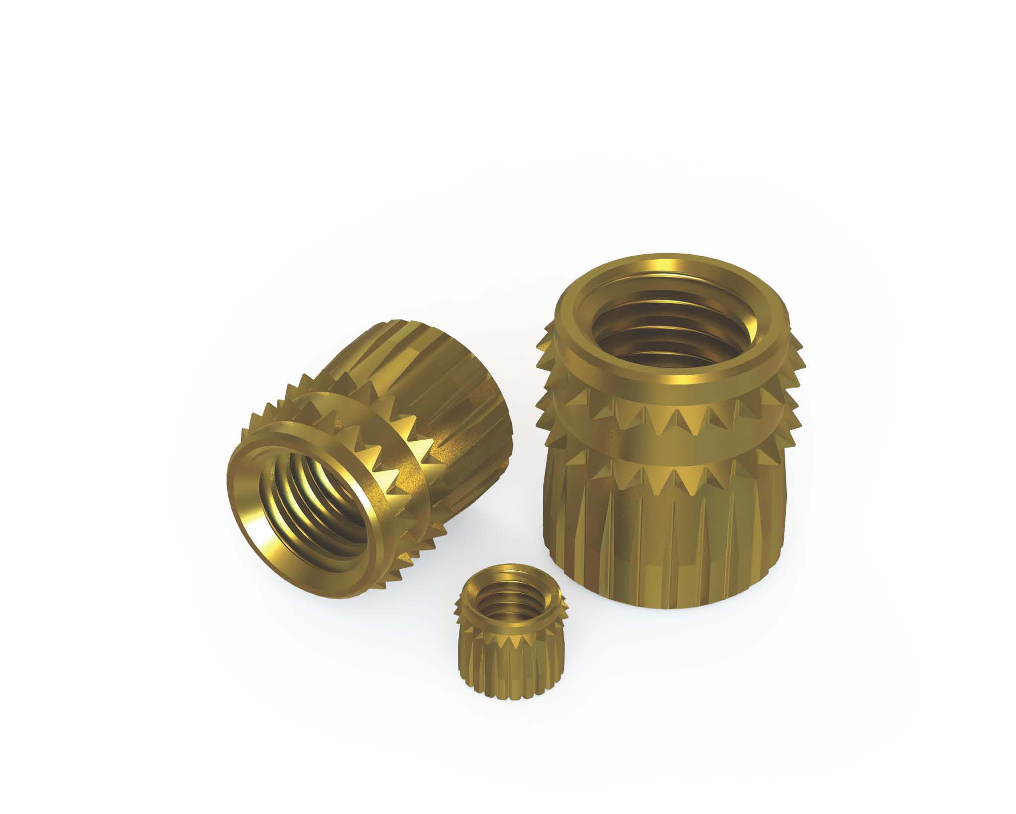 Cold insertion threaded inserts (self-clinching)
