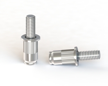 Deformable threaded studs