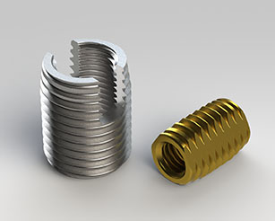 Self-tapping threaded bushes