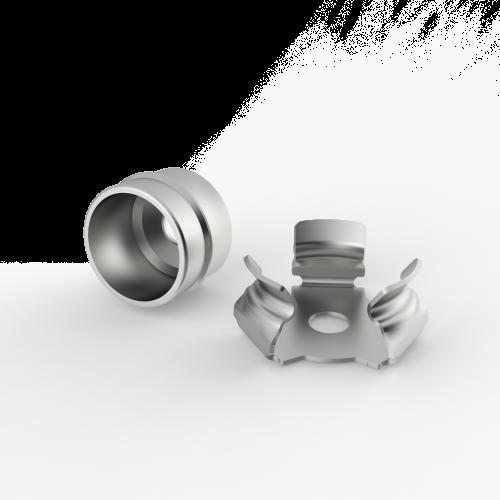 Fissaggi rapidi a pressione in metallo